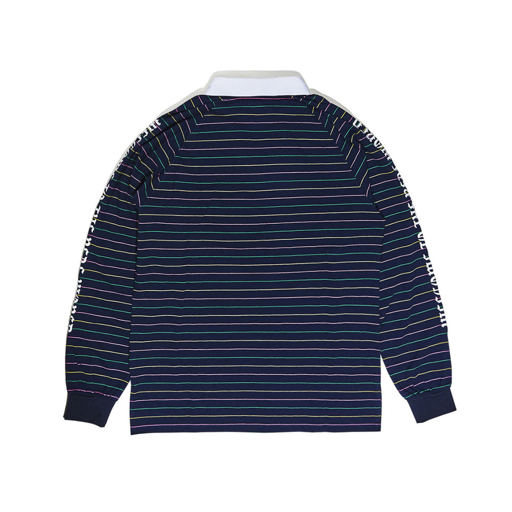 WTTR LONG SLEEVE PIQUE STRIPE NAVY