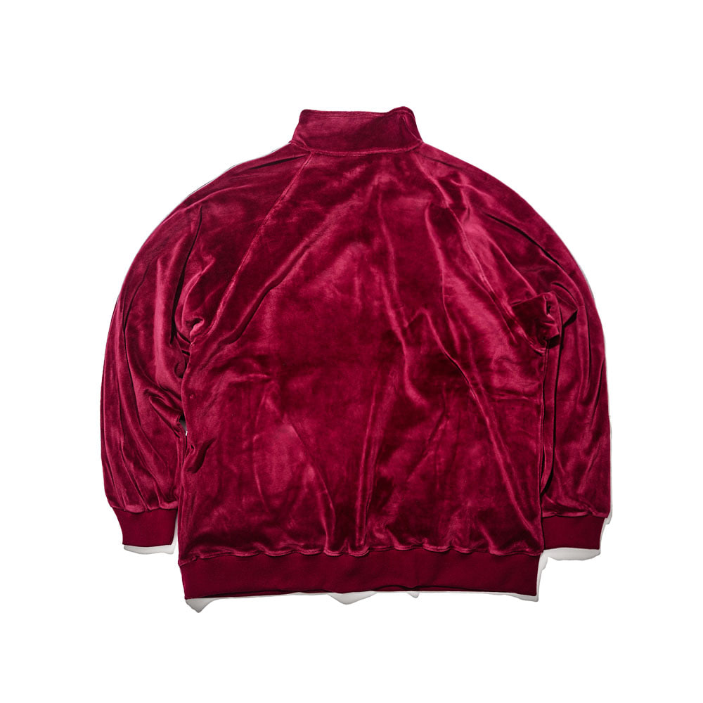 BSR VELOUR TRACK TOP BURGUNDY