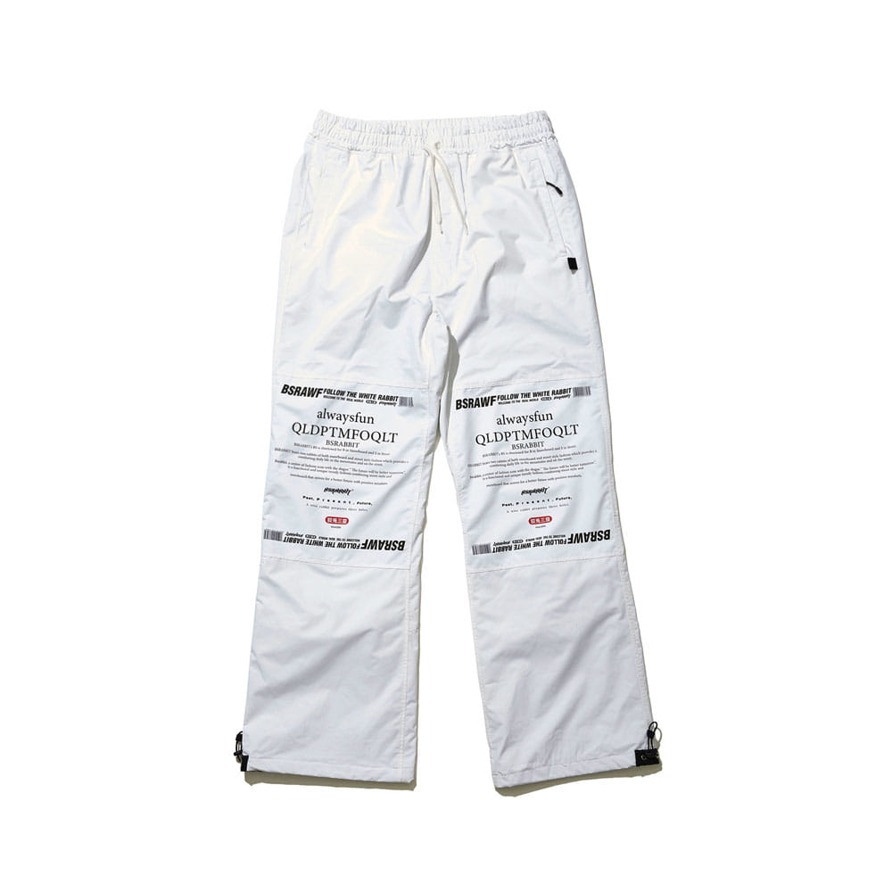 BSR WORK TRACK PANTS WHITE
