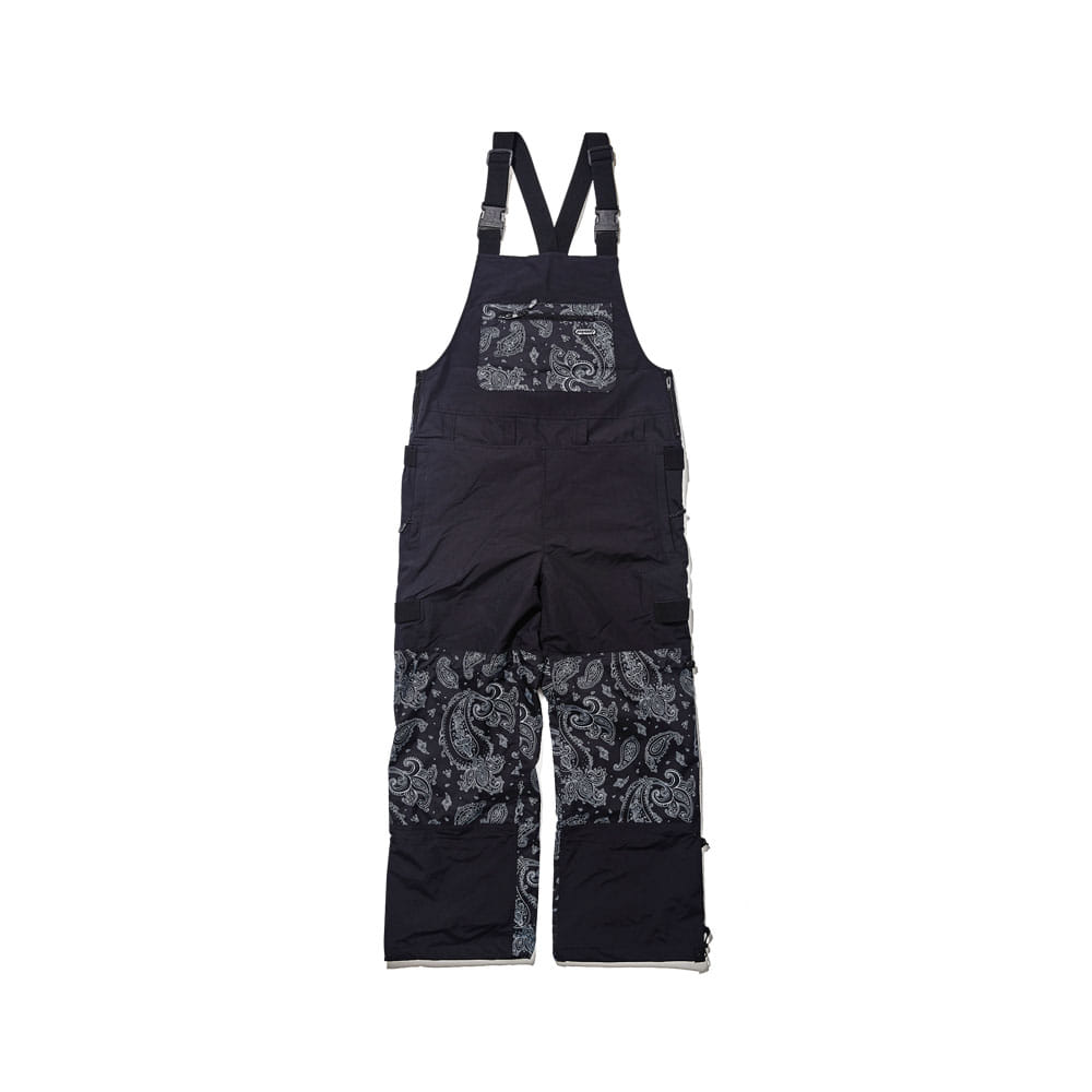 BSR INCREDIBLE TRANSFORM BIB PANTS PAISLEY BLACK