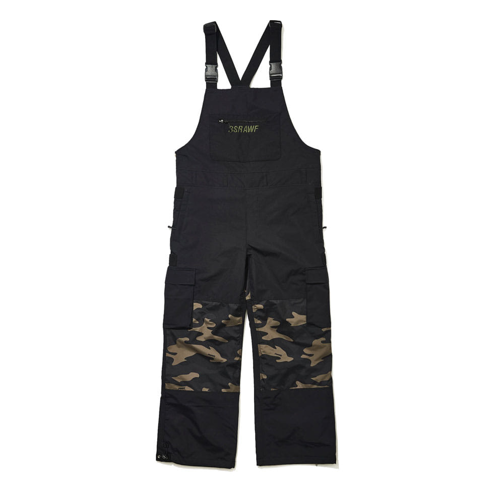 BSR INCREDIBLE CARGO BIB PANTS BLACK