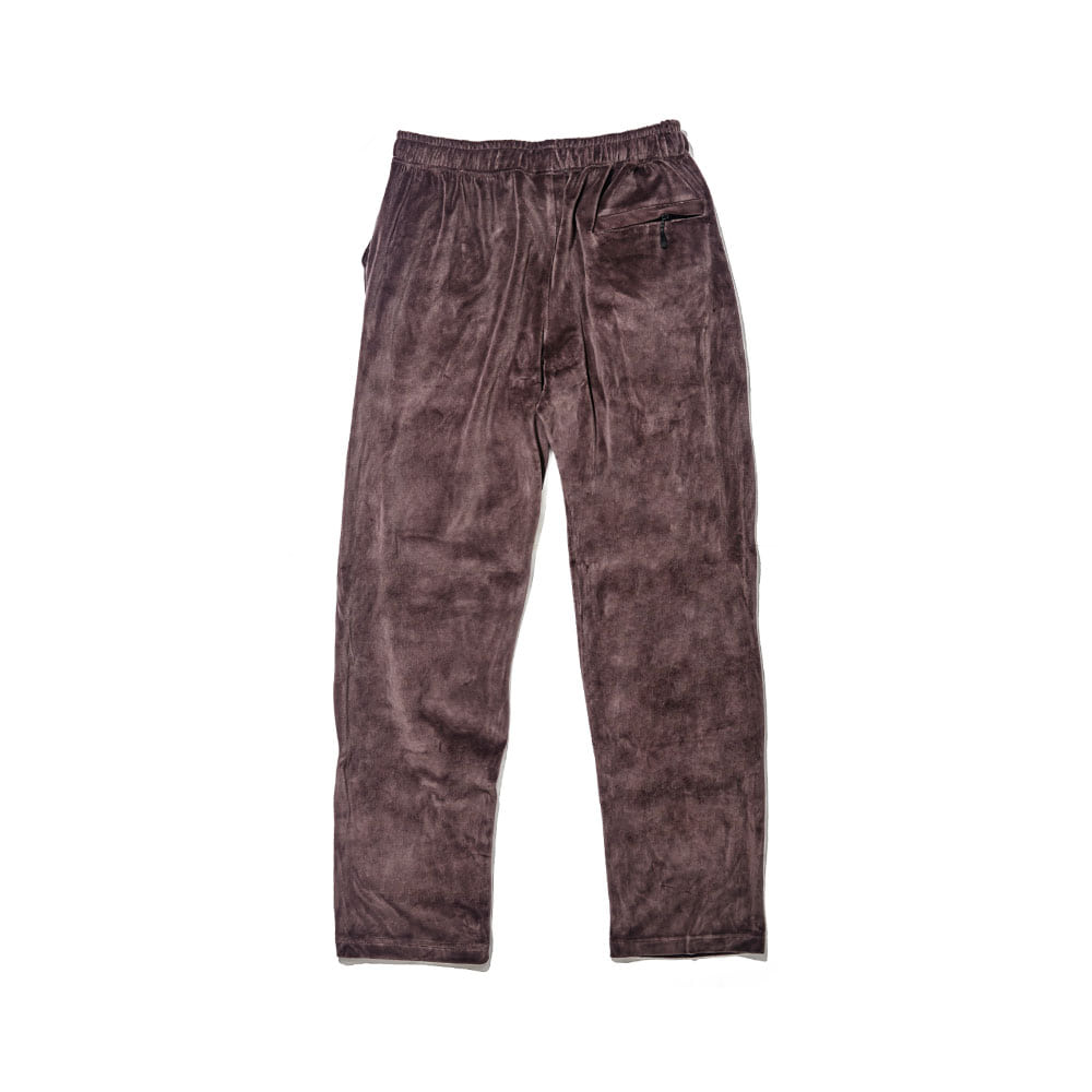 BSR VELOUR TRACK PANTS CHARCOAL