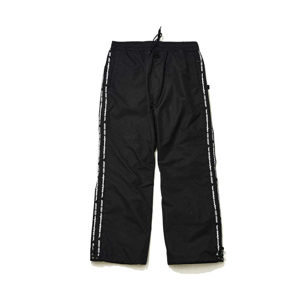 DOUBLE LINE TAPE TRACK PANTS BLACK