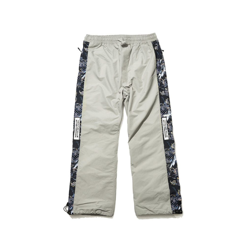 BSR SHOWY LINE TRACK PANTS GRAY