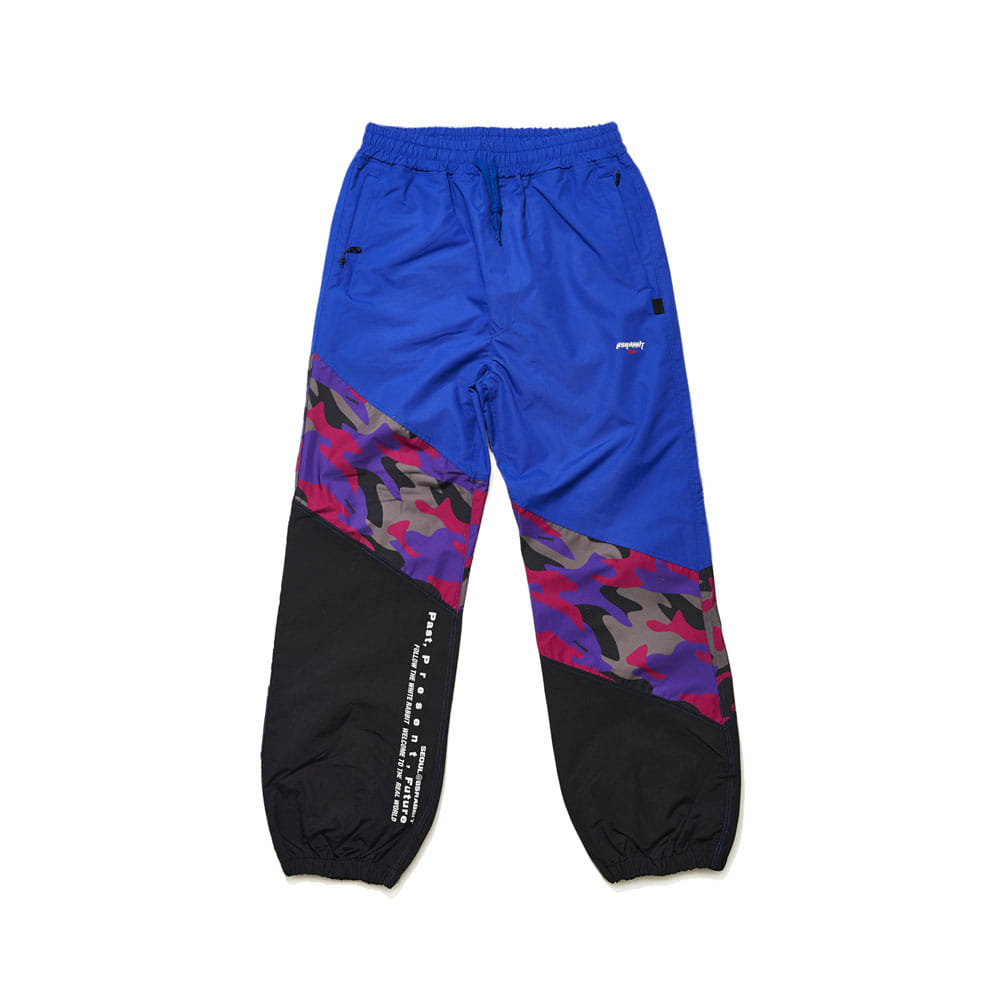 DIAGONAL BOX JOGGER PANTS PURPLE CAMO