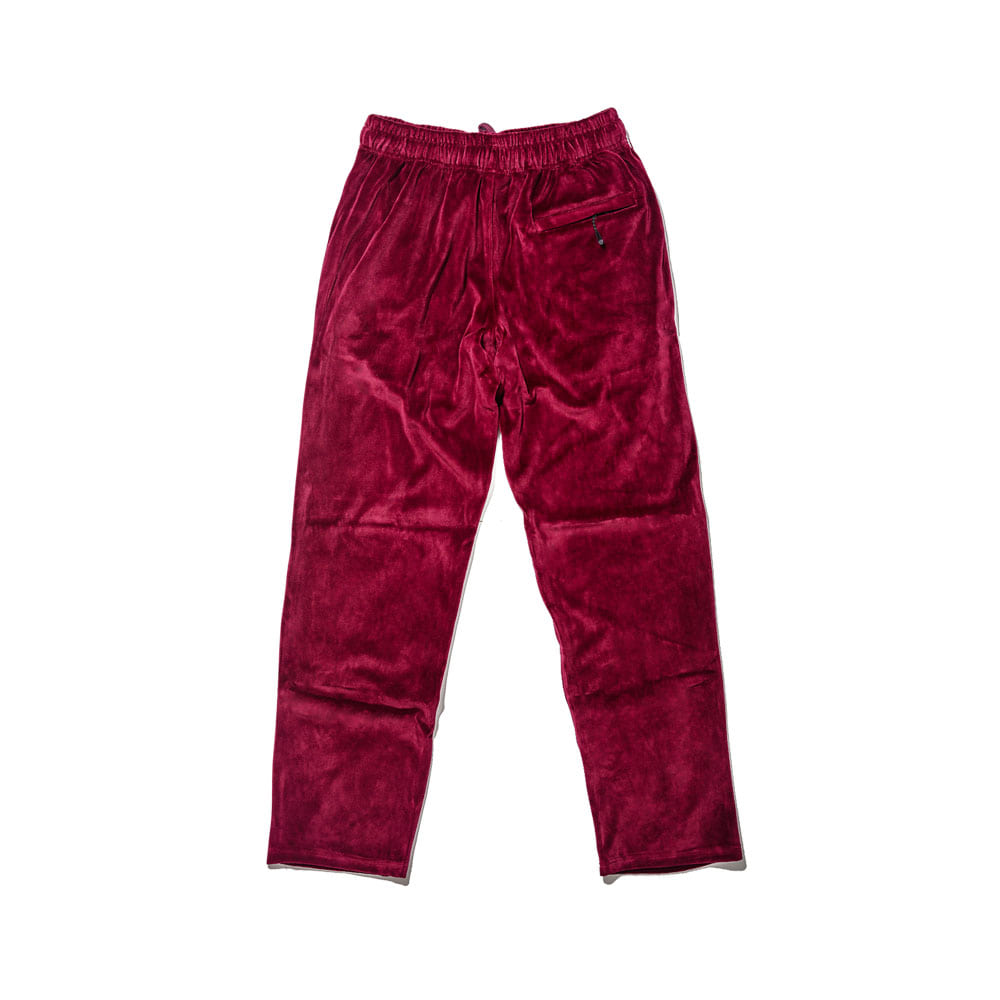 BSR VELOUR TRACK PANTS BURGUNDY