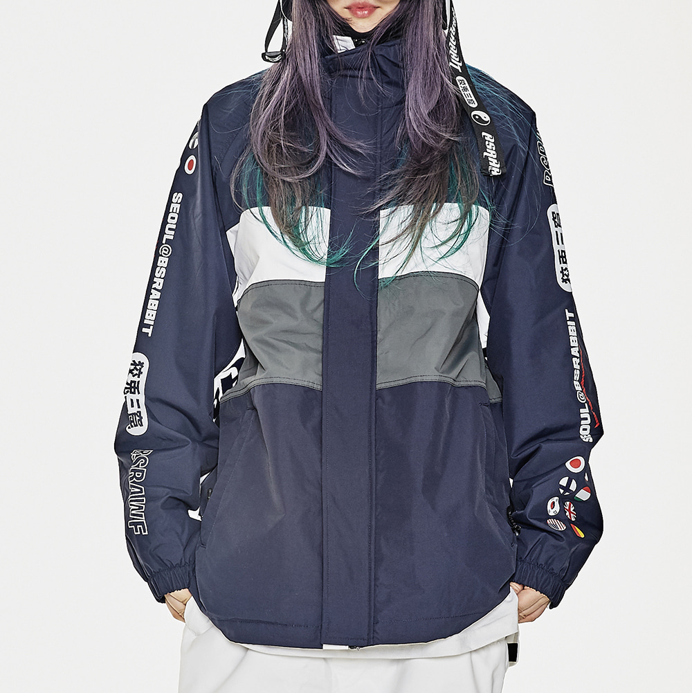 COMPETITIVE JACKET REFLECTIVE NAVY