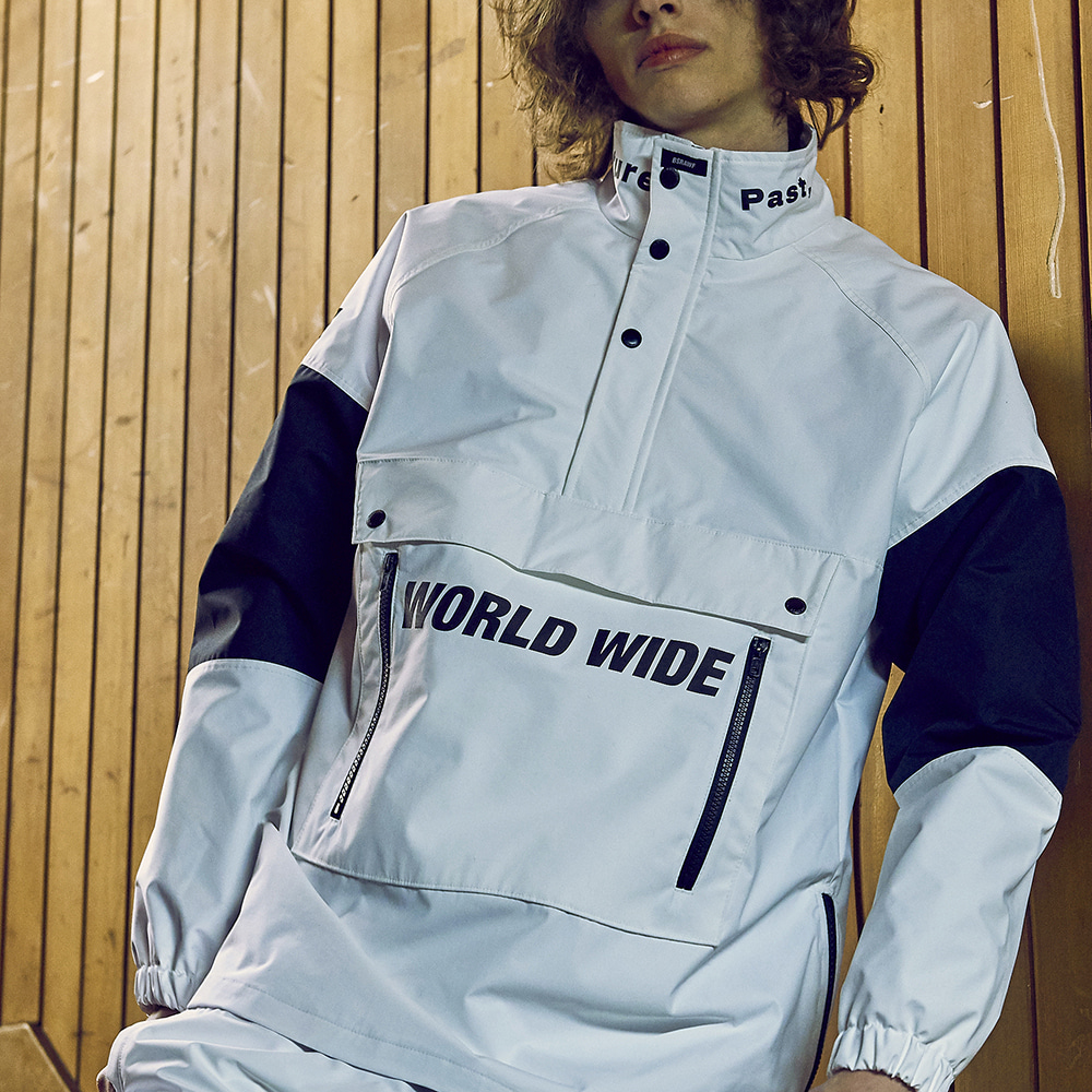 BSR WORLD WIDE ANORAK JACKET WHITE
