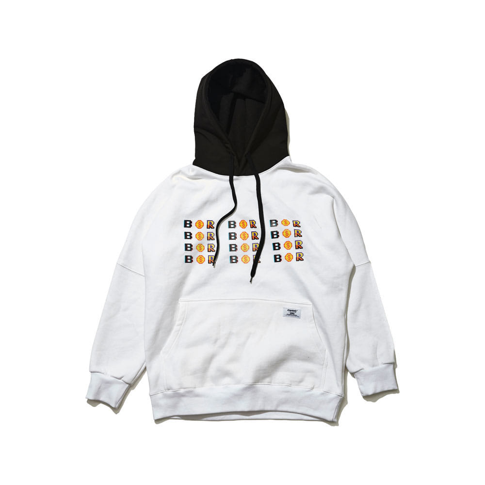 BSR LUCKY HOODIE WHITE