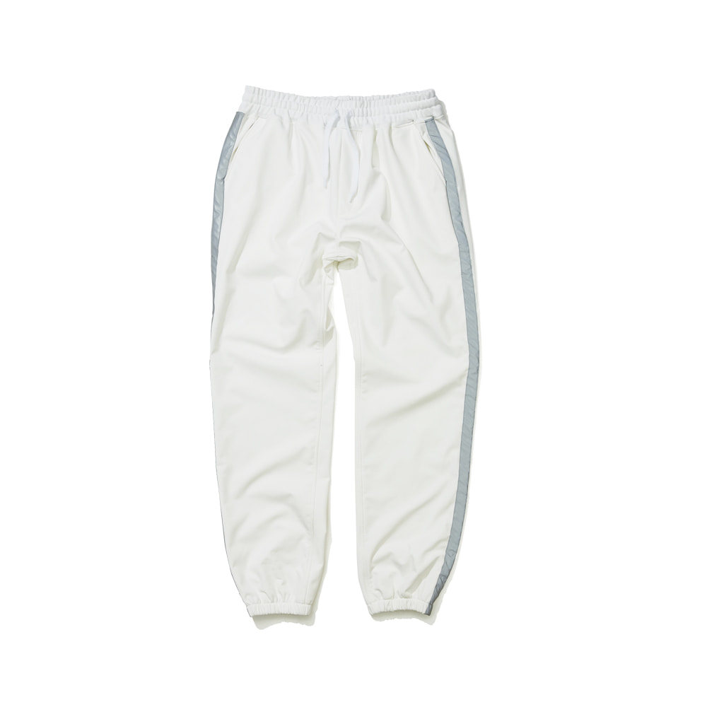 WATERPROOF LOGO JOGGER PANTS WHITE