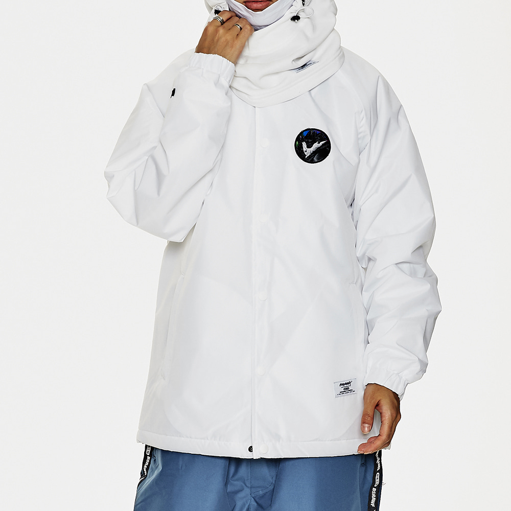 BSR WARM COACH JACKET WHITE