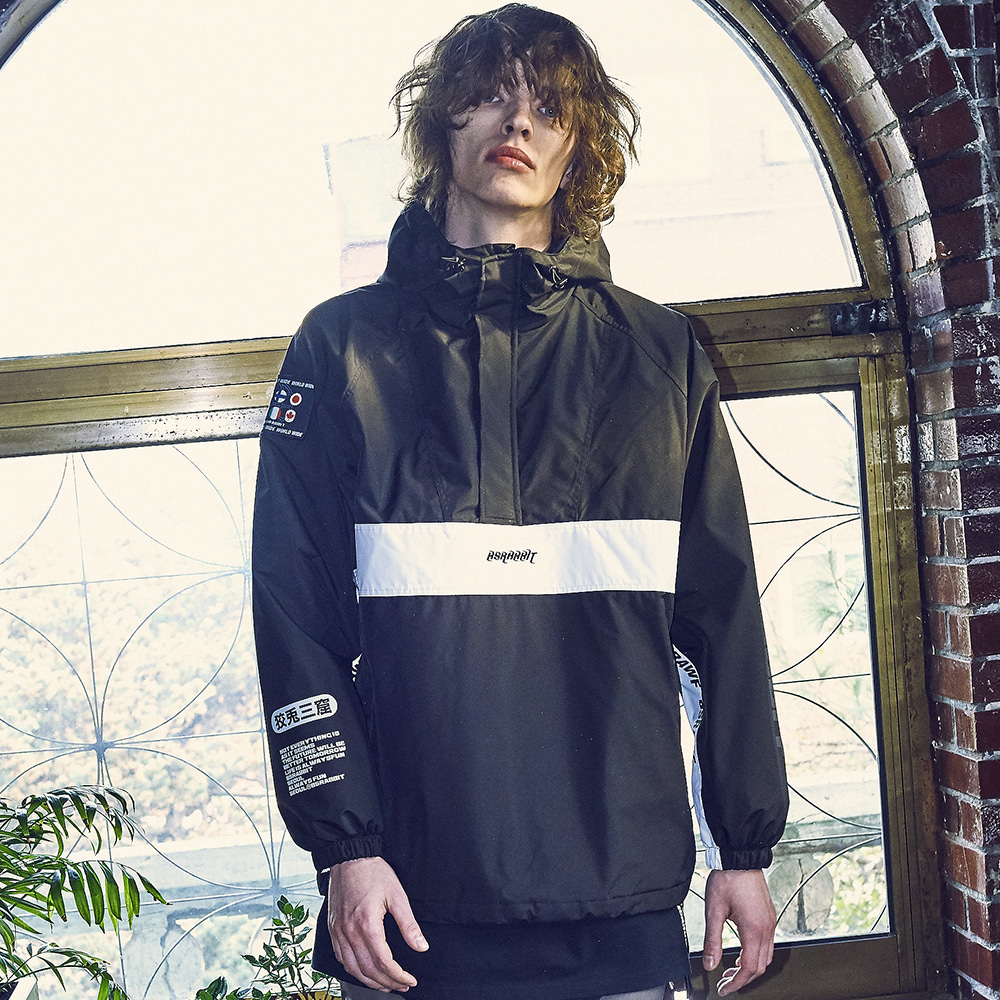 BSR RUN ANORAK BLACK