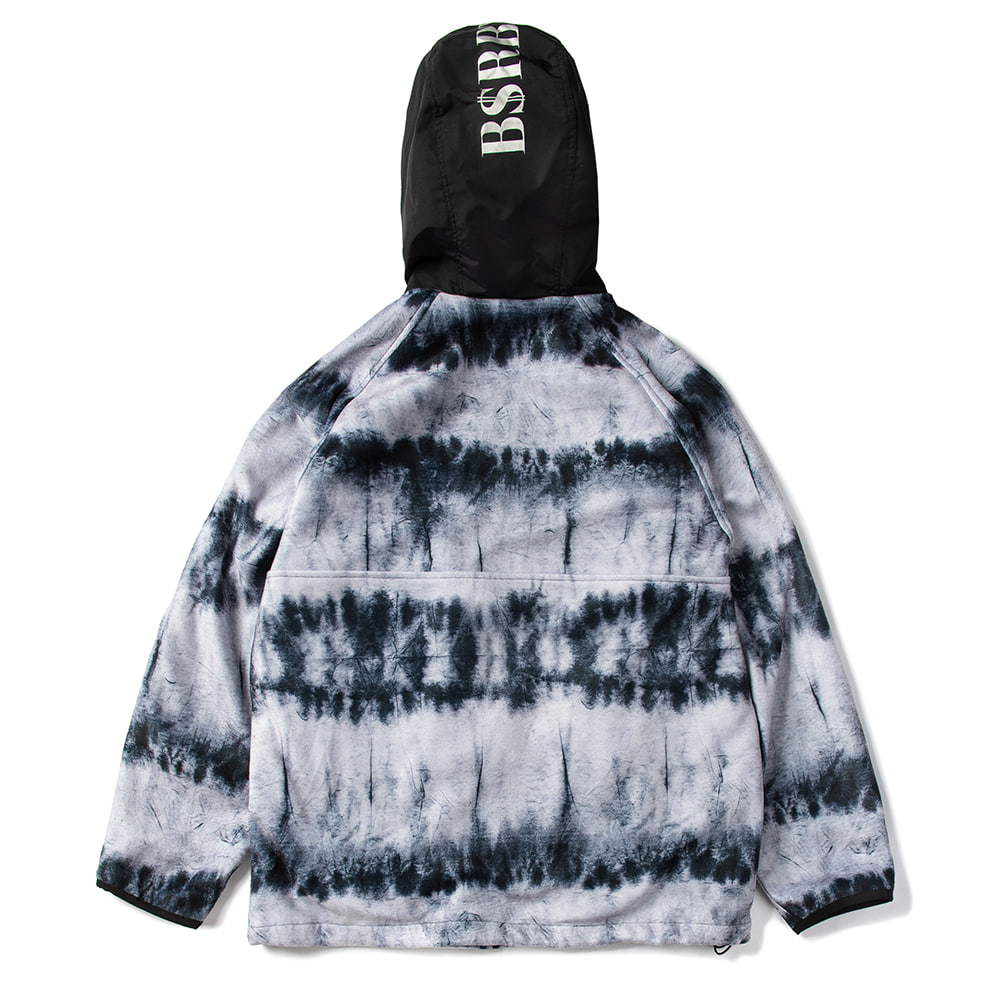 ROYAL FLEECE JACKET TIE DYE BLACK