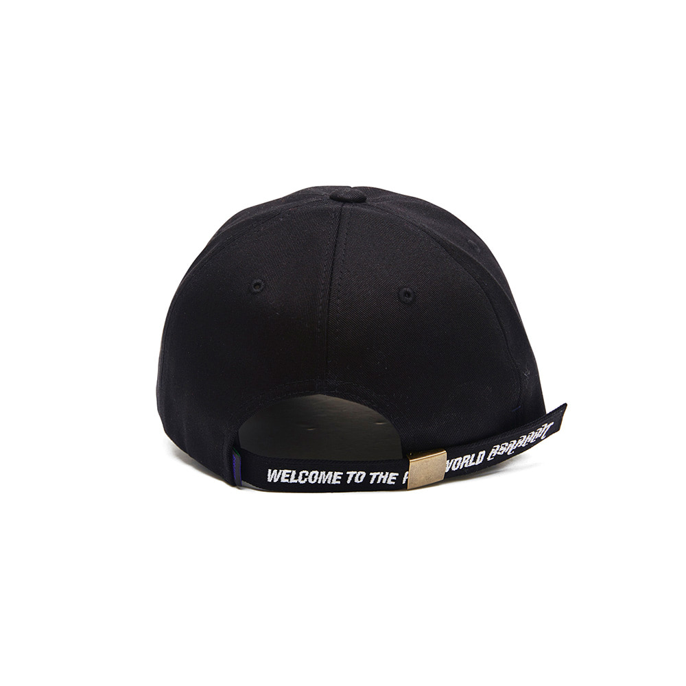 TRIPPY RABBIT CAP BLACK