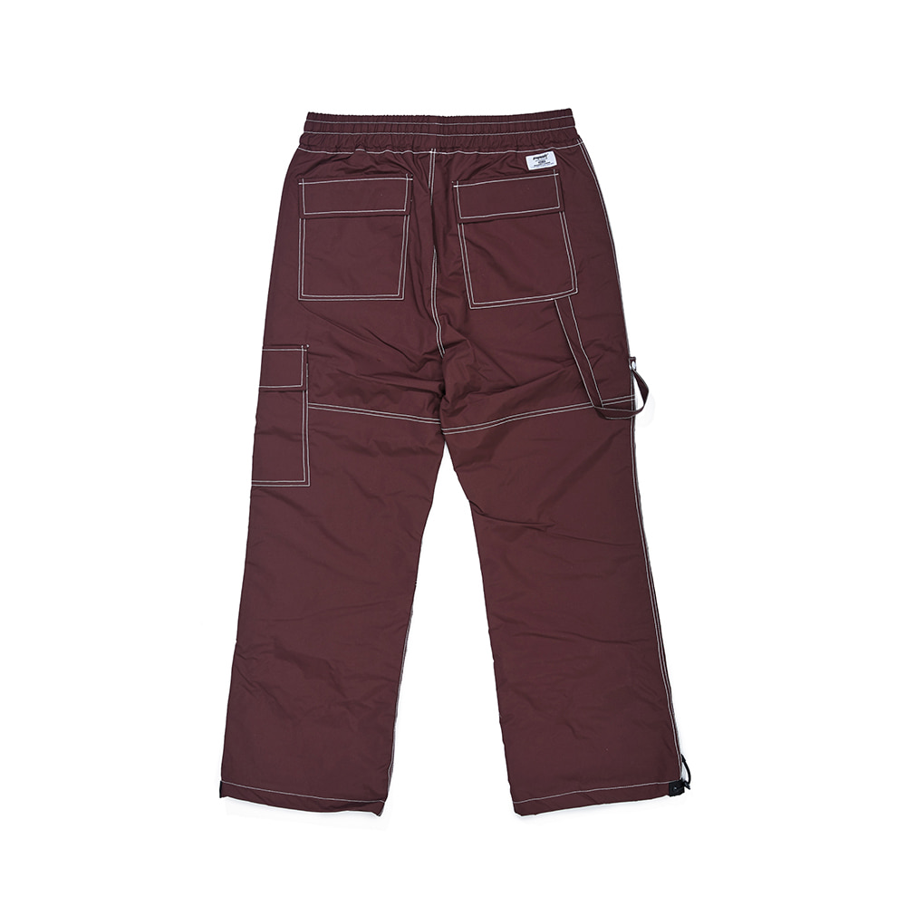 STITCH ONE POCKET TRACK PANTS BURGUNDY