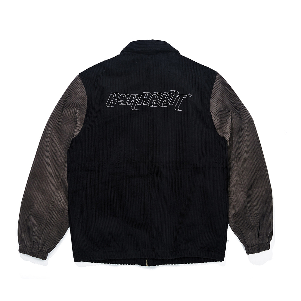 CORDUROY COLLAR JACKET BLACK