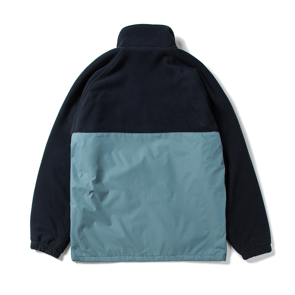 HALF FLEECE JACKET NAVY