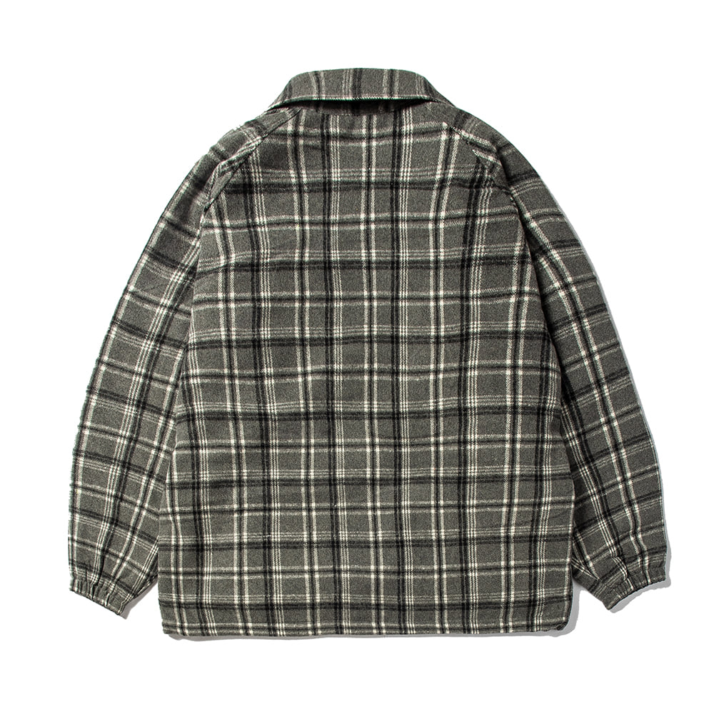 BETTER THAN CHECK ANORAK SHIRT GRAY CHECK