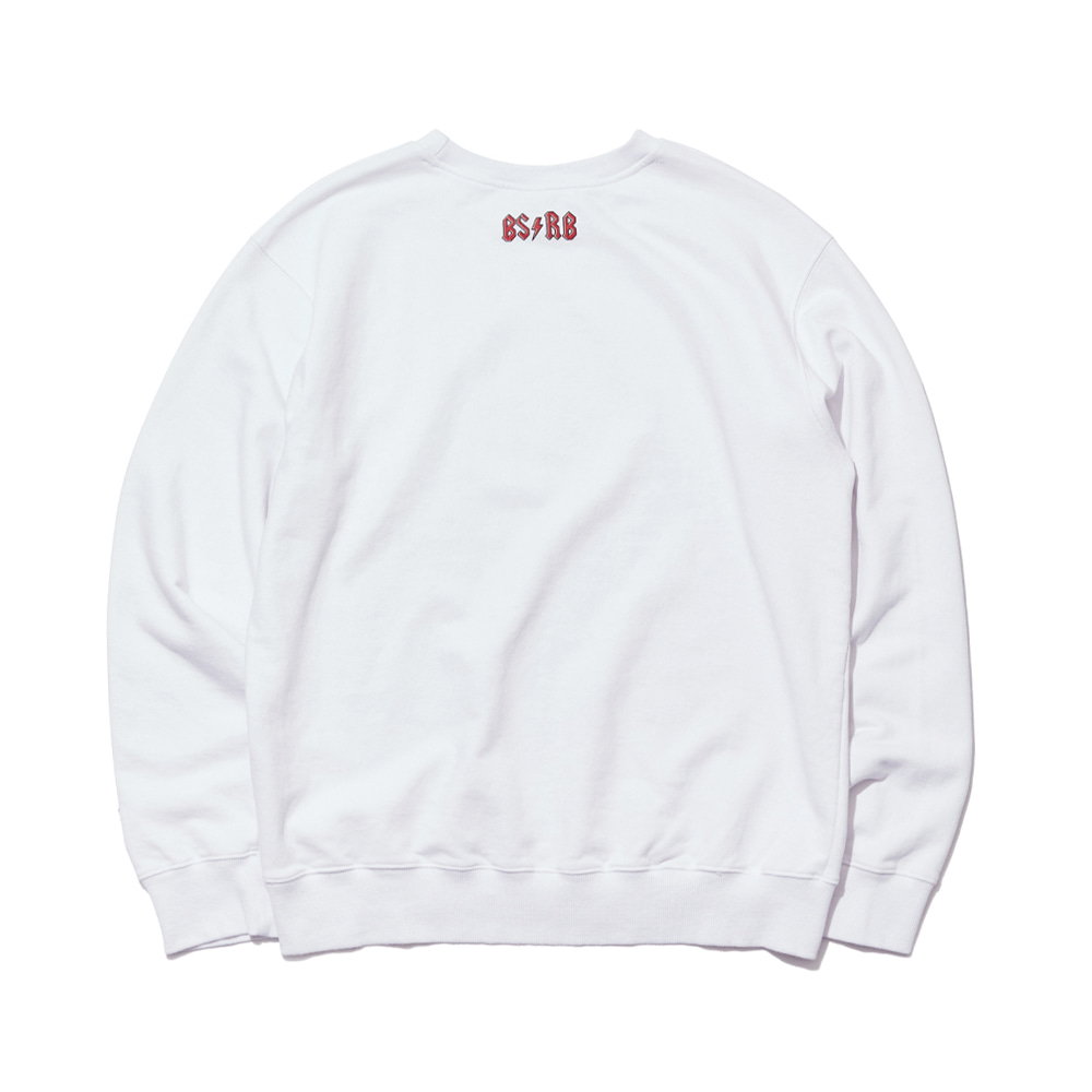 BSRB WELCOME DRY SWEAT SHIRT WHITE