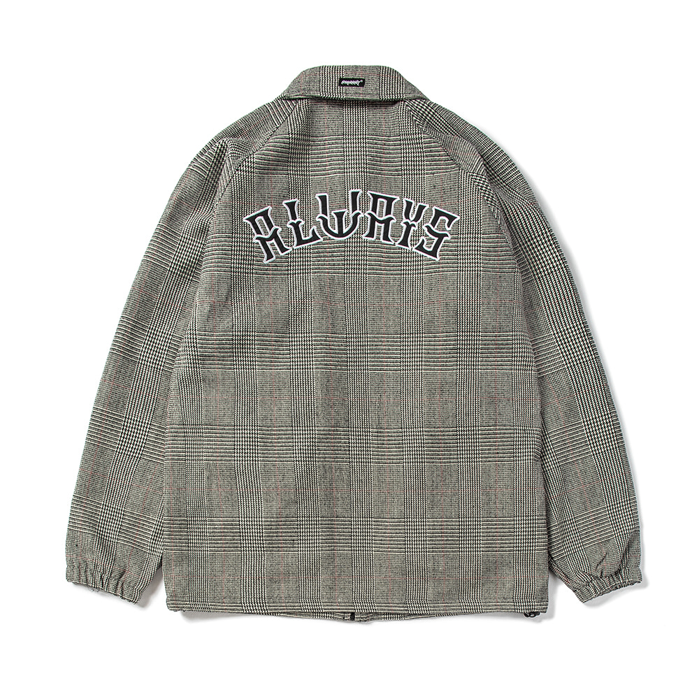 ALWAYS COACH JACKET CHECK GRAY
