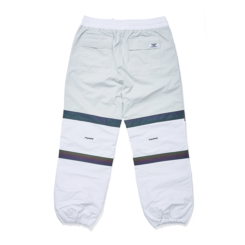 POT-X RAINBOW REFLECTIVE JOGGER PANTS WHITE