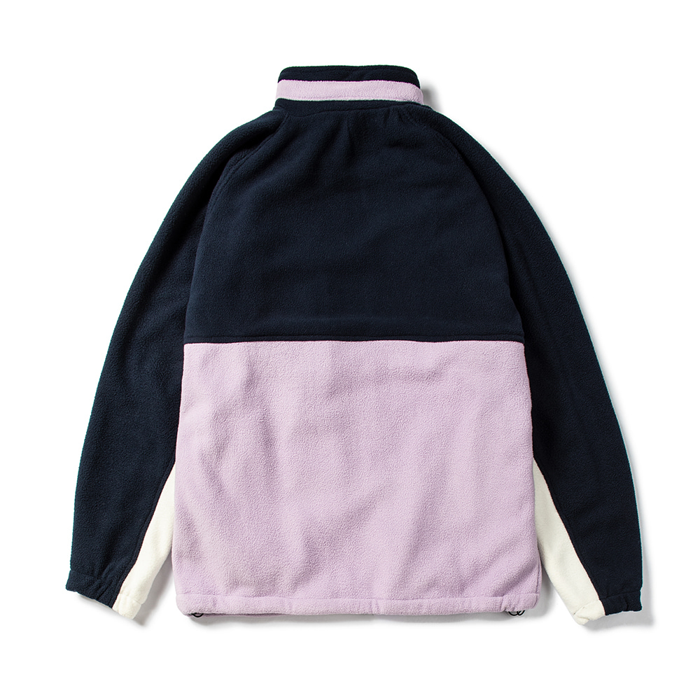 TOASTY FLEECE JACKET NAVY / PURPLE