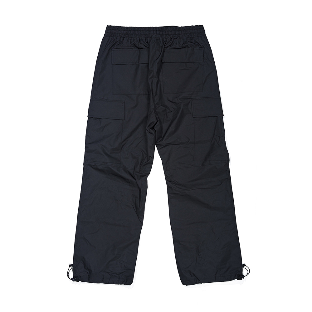BIG CARGO POCKET TRACK PANTS BLACK