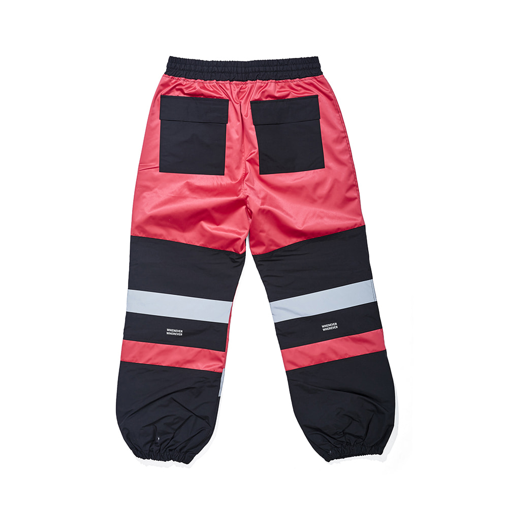 BOX DOUBLE LINE REFLECTIVE JOGGER PANTS HOT PINK