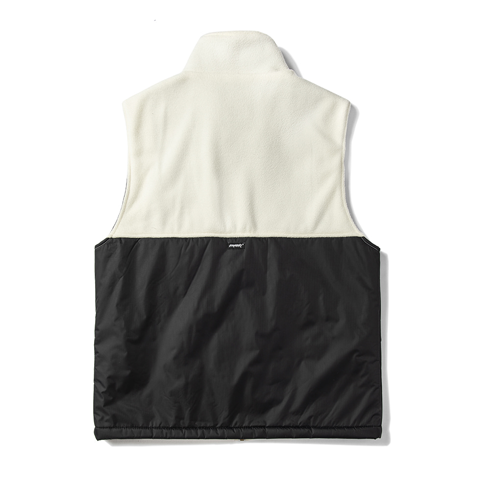B714 FLEECE VEST WHITE