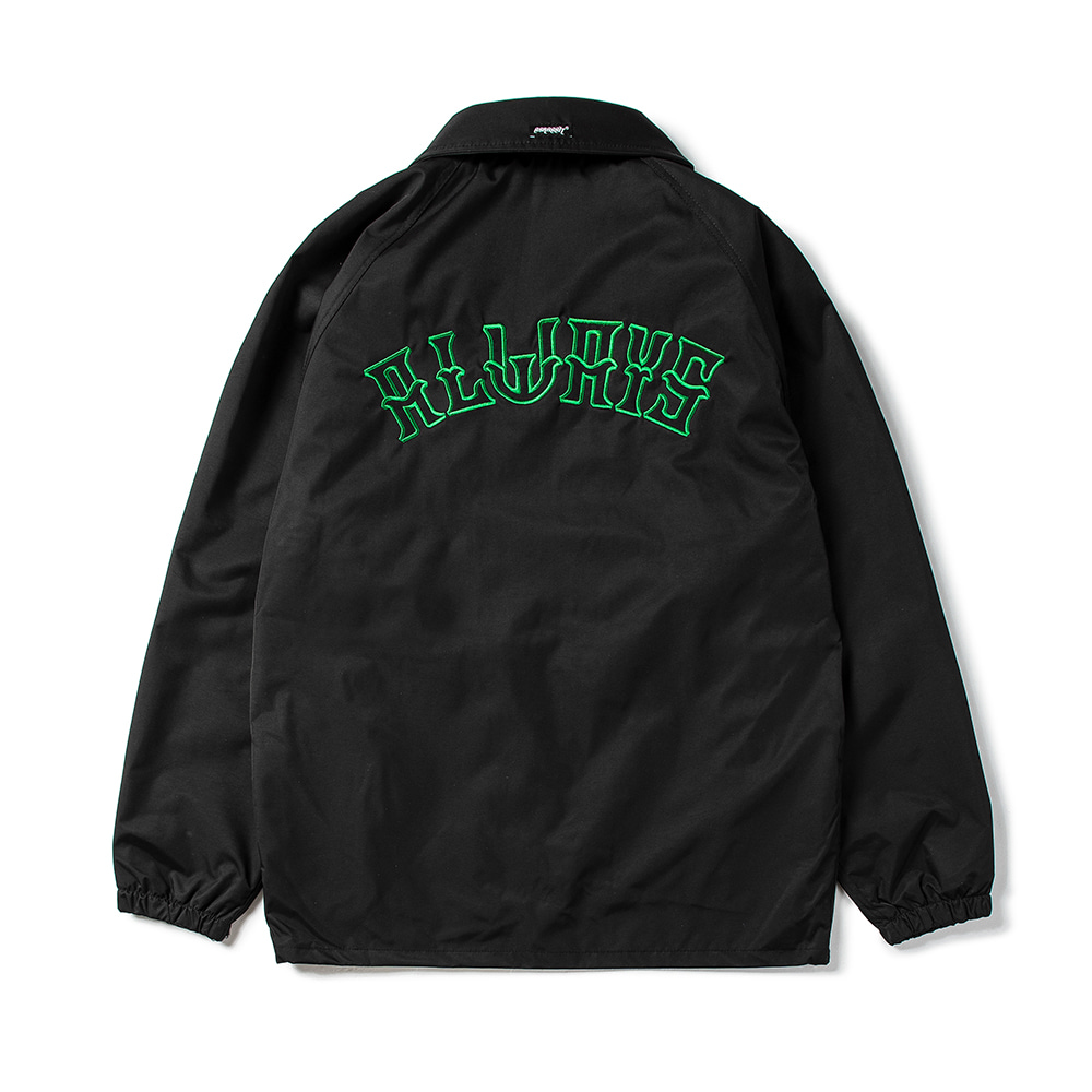 ALWAYS COACH JACKET BLACK