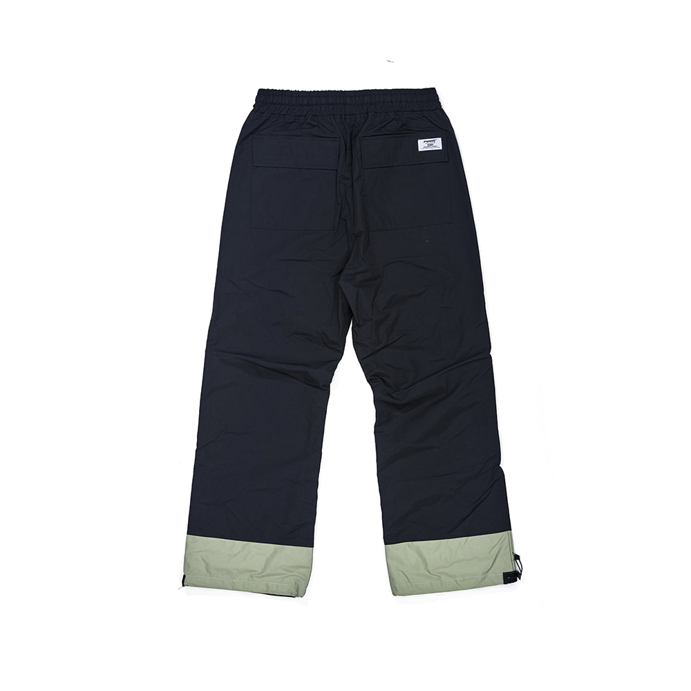 DOUBLE BOX TRACK PANTS BLACK / OLIVE