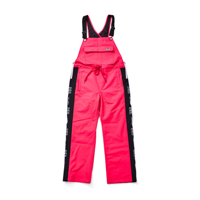 BSR WATERPROOF OVERALL TRACK PANTS HOTPINK