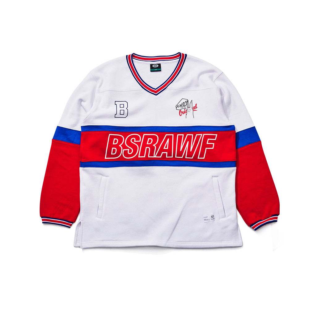 BSRAWF CATCH ON PULLOVER WHITE