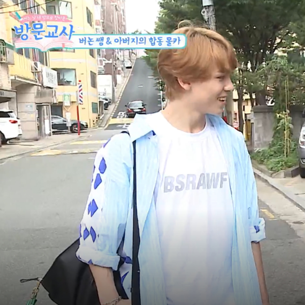 bsrabbit@BSRABBIT CELEBRITY 버논 비에스래빗 BSRABBIT Mnet  예능 '방문교사' 의상 협찬  BSRB 3M Scotch logo T-SHIRT WHITE
