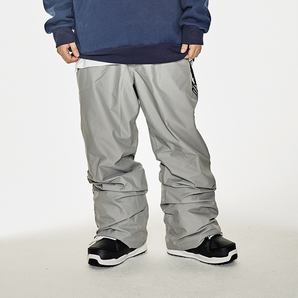 DOUBLE LINE TAPE TRACK PANTS DARK GRAY