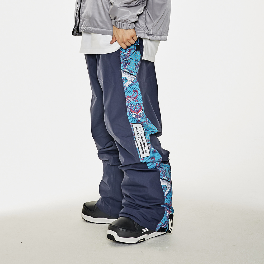 BSR SHOWY LINE TRACK PANTS NAVY