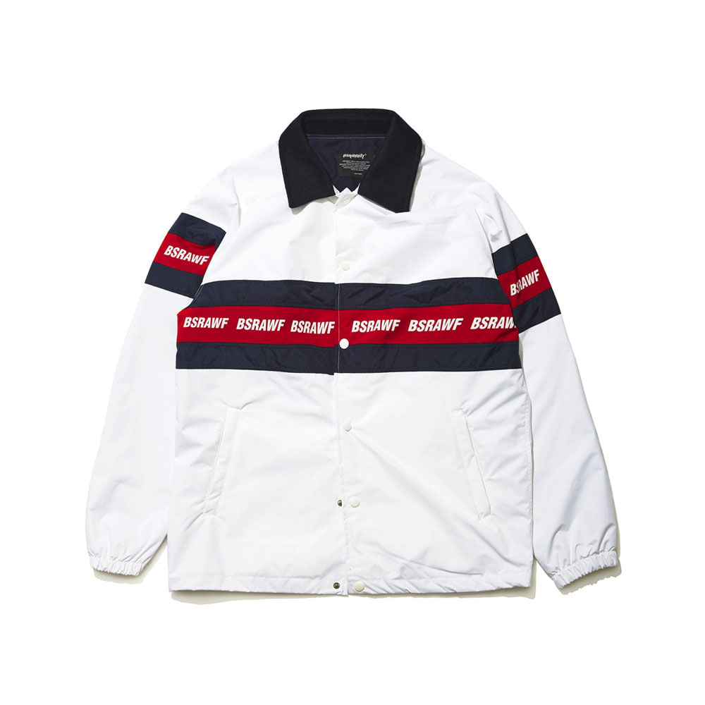 BSRAWF LINE COACH JACKET WHITE