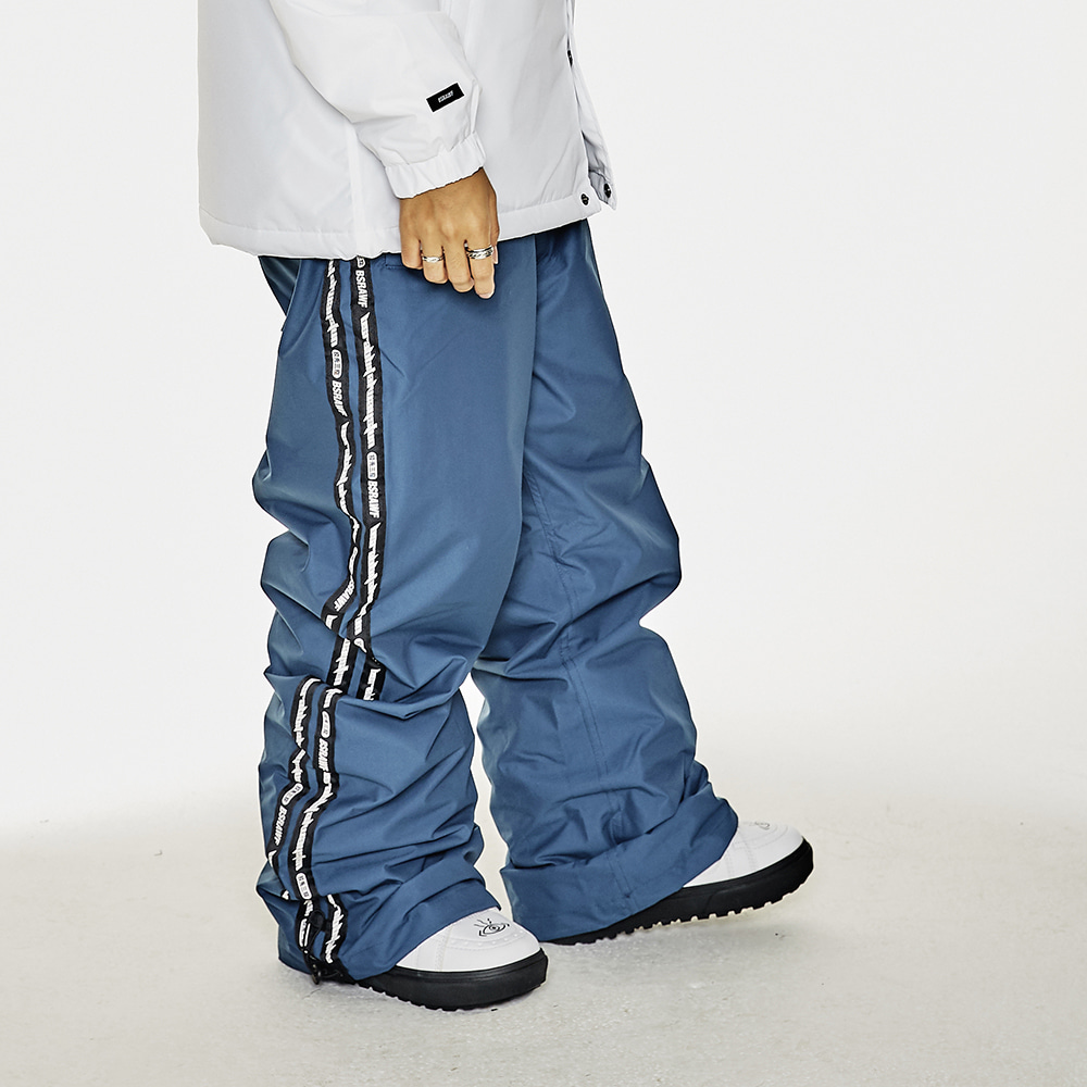 DOUBLE LINE TAPE TRACK PANTS DARK BLUE