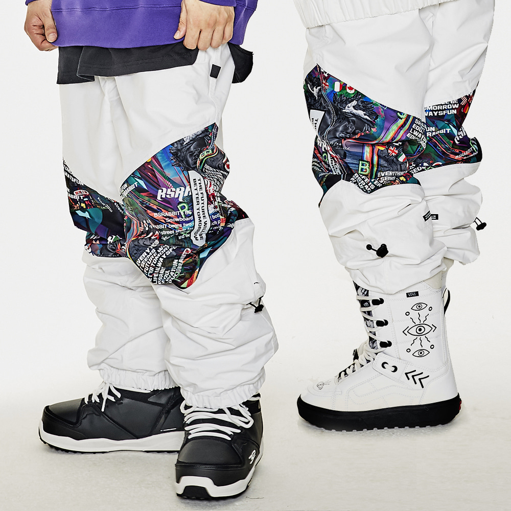 BSR TRANSFORM BOX MULTI JOGGER PANTS WHITE