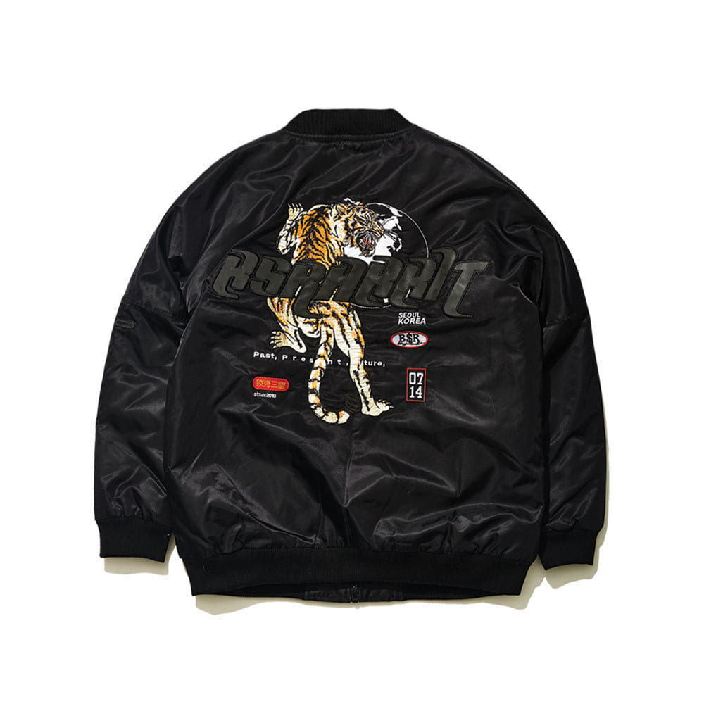 BSR TIGER STARDIUM JACKET BLACK
