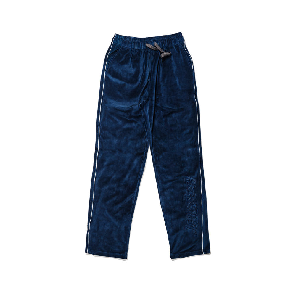BSR VELOUR TRACK PANTS NAVY