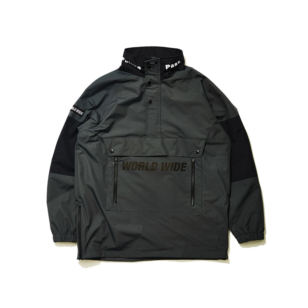 BSR WORLD WIDE ANORAK JACKET DEEP KHAKI