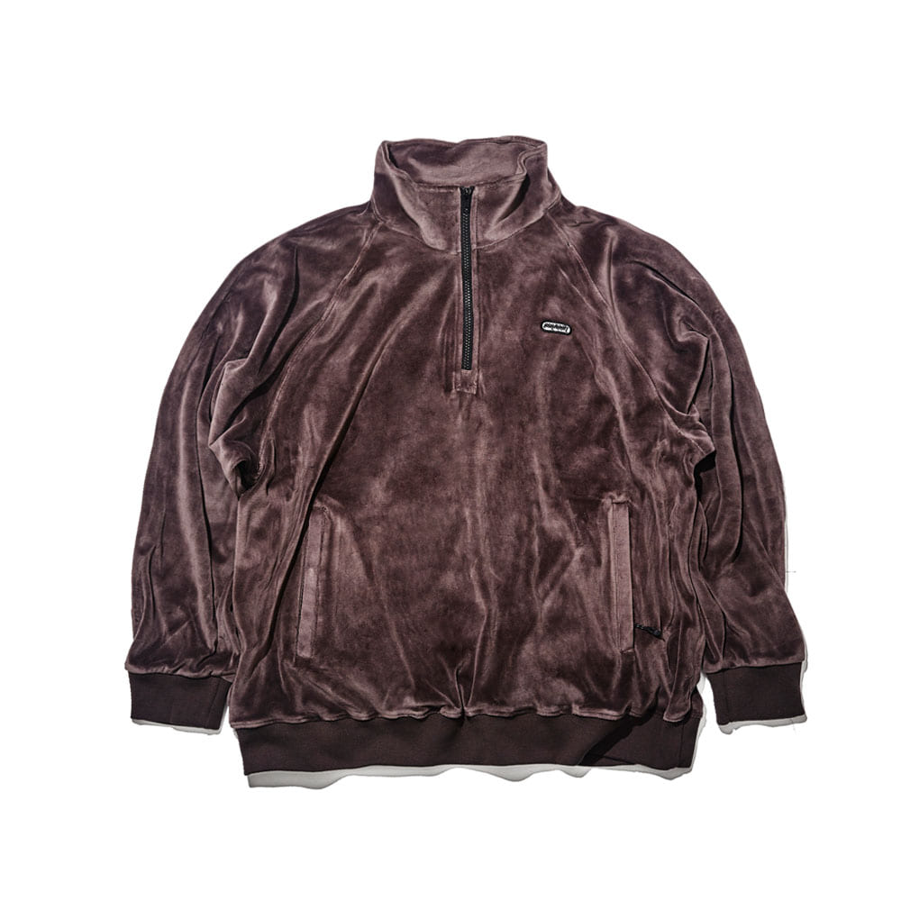 BSR VELOUR TRACK TOP CHARCOAL