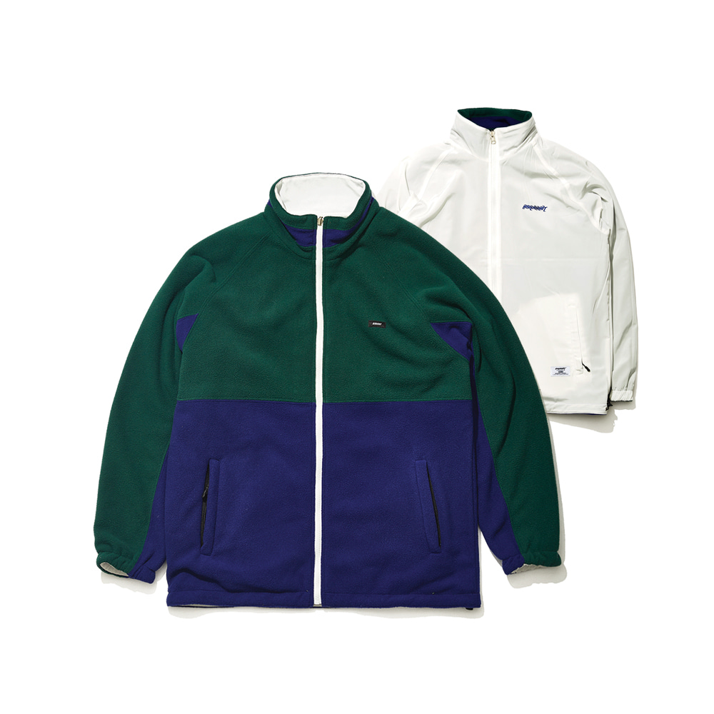 TOASTY FLEECE REVERSIBLE JACKET GREEN/WHITE