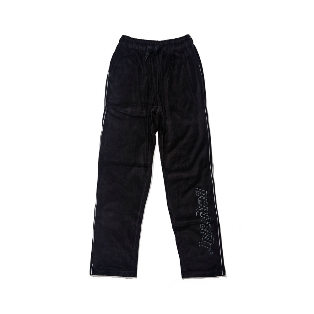 BSR VELOUR TRACK PANTS BLACK
