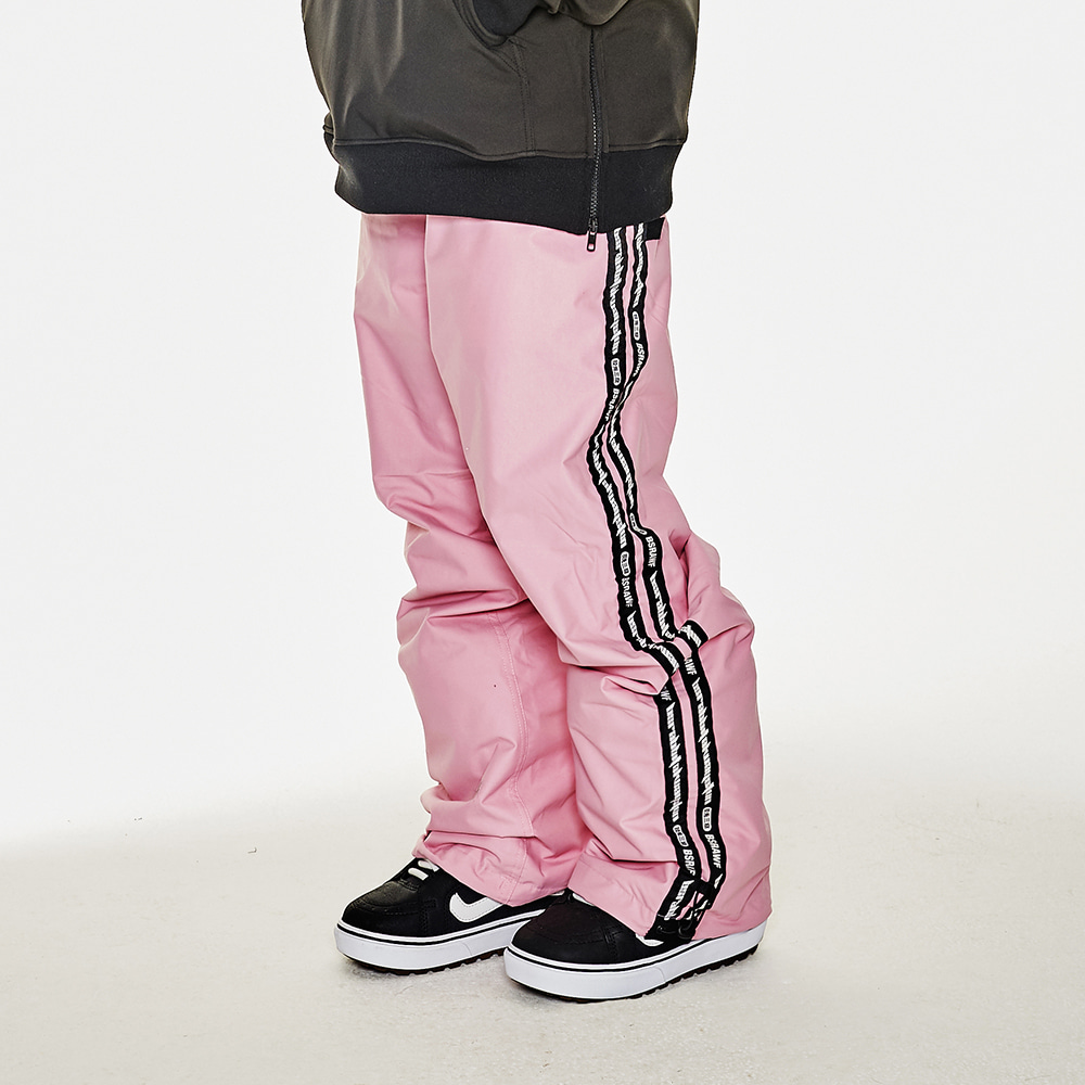 DOUBLE LINE TAPE TRACK PANTS PINK
