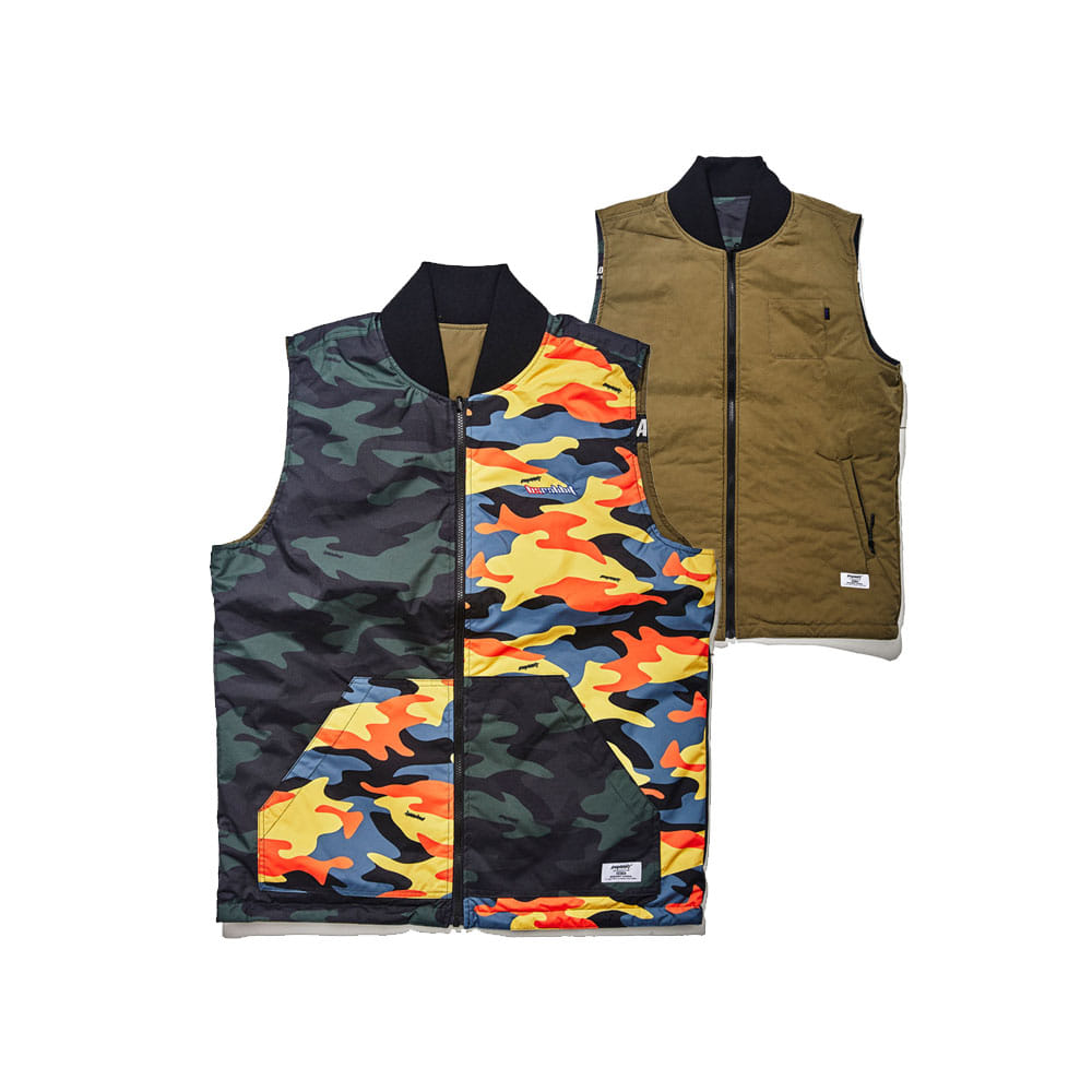 ULTIMATE REVERSIBLE VEST KHAKI/MIX CAMO