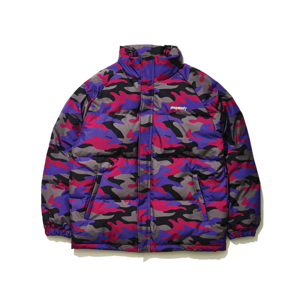 BSR DUCK DOWN PARKA PURPLE CAMO