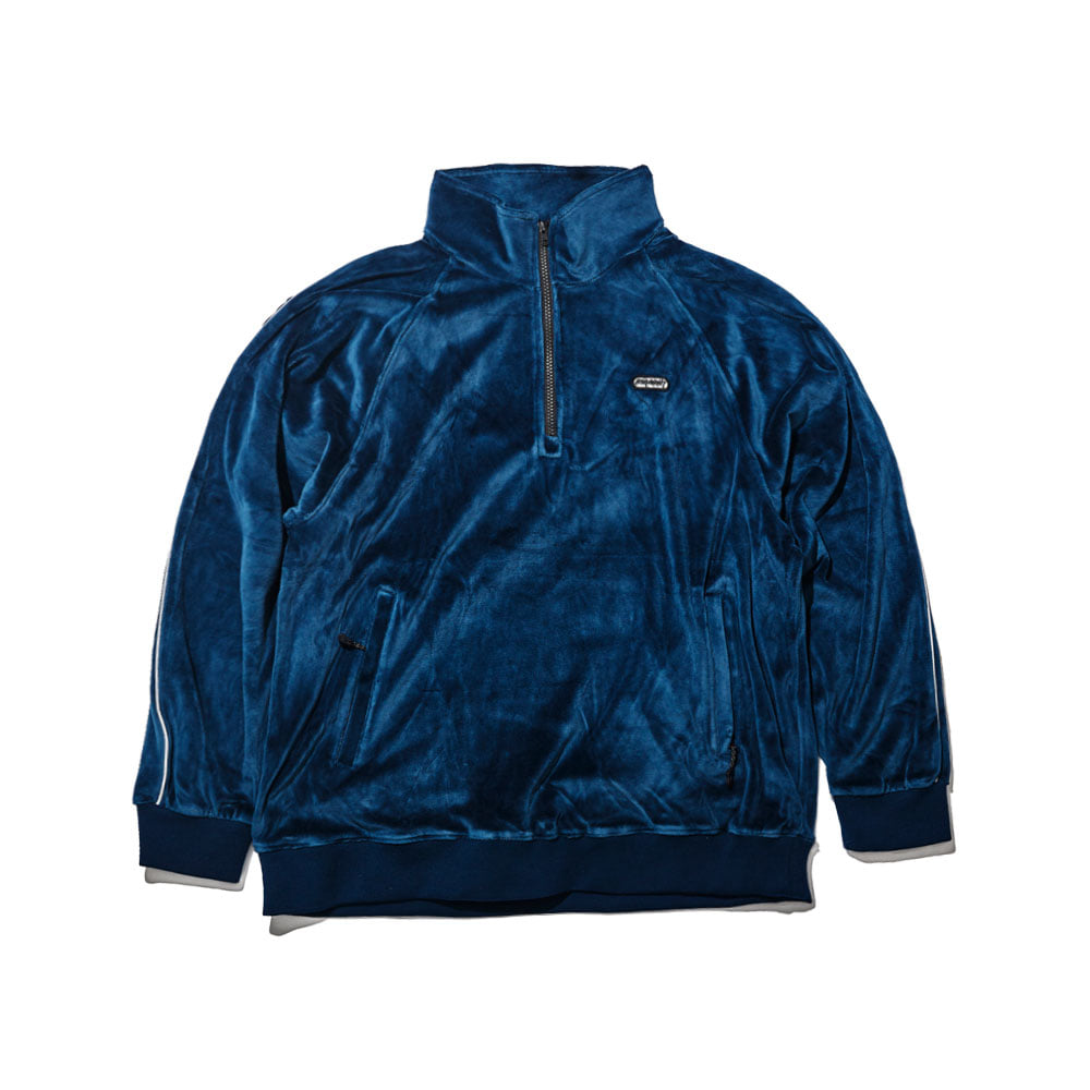BSR VELOUR TRACK TOP NAVY