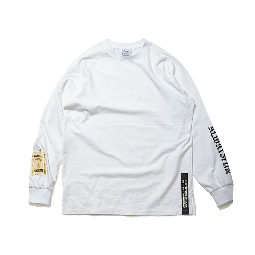 ALWAYSFUN LONG SLEEVE TEE WHITE